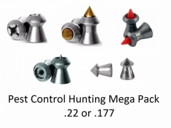 JSB H&N RWS  Pest Control Hunting Sample Pack 8 Types  .177 .22