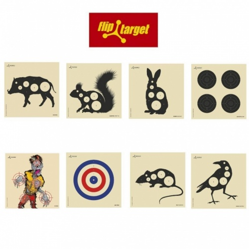 Flip Target Air Rifle Practice Targets Packs of 50