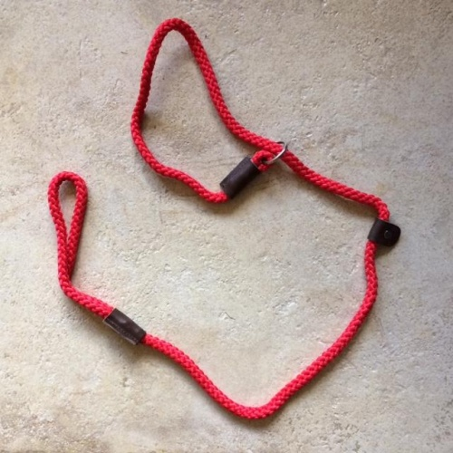 Handmade Dog Lead Rope Slip Lead Red or Navy