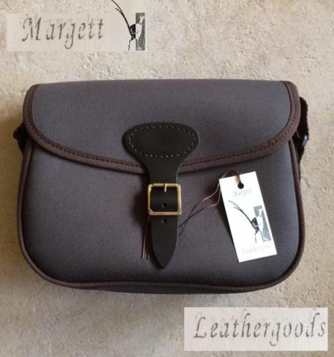 Margett Leathergoods Traditional Canvas Cartridge Bag