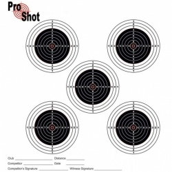 ProShot Air Rifle Practice Match Targets 17x17cm Pack of 100