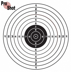 ProShot Air Pistol Air Rifle Practice Targets 17x17cm Pack of 100