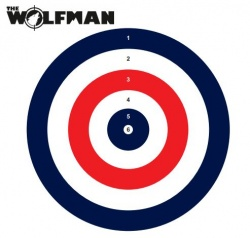 Wolfman Air Rifle Practice Targets 17x17cm Pack of 100